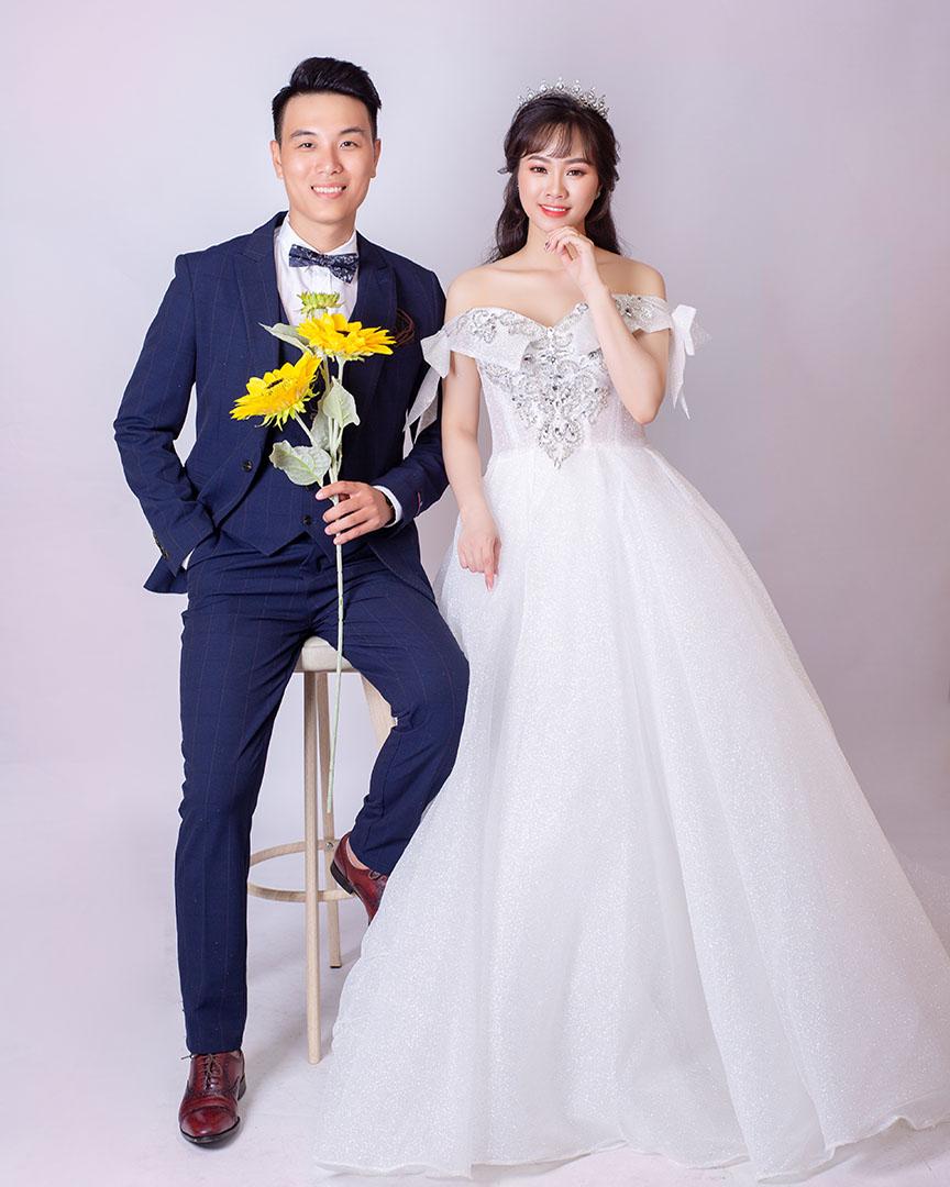 Chụp ảnh cưới tại Studio đơn giản BachTuyet Bridal