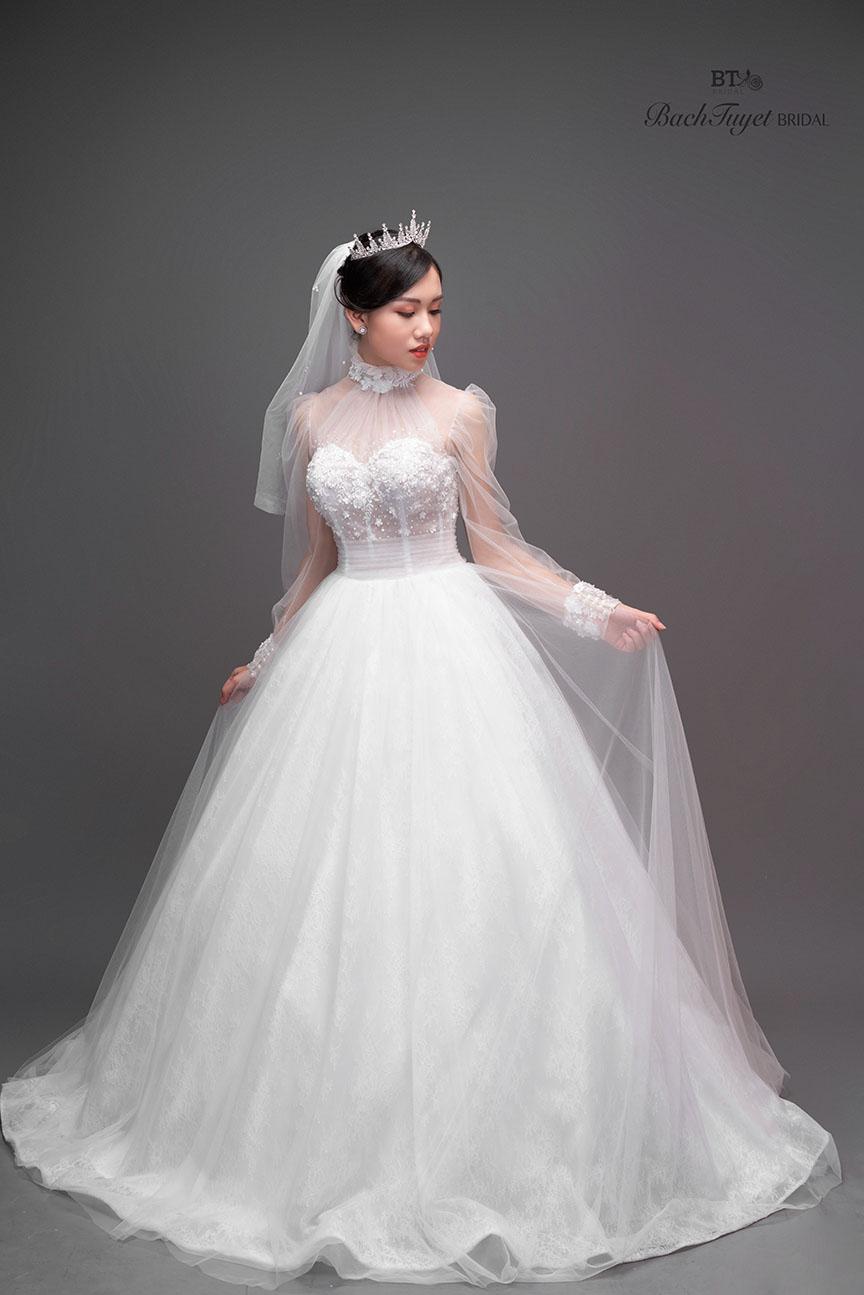 Mẫu váy cưới nhập ngoại 2020