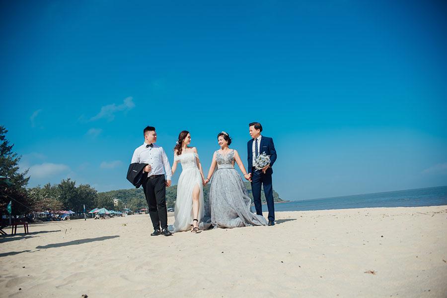 Chụp kỷ niệm ảnh cưới kết hợp du lịch ở biển