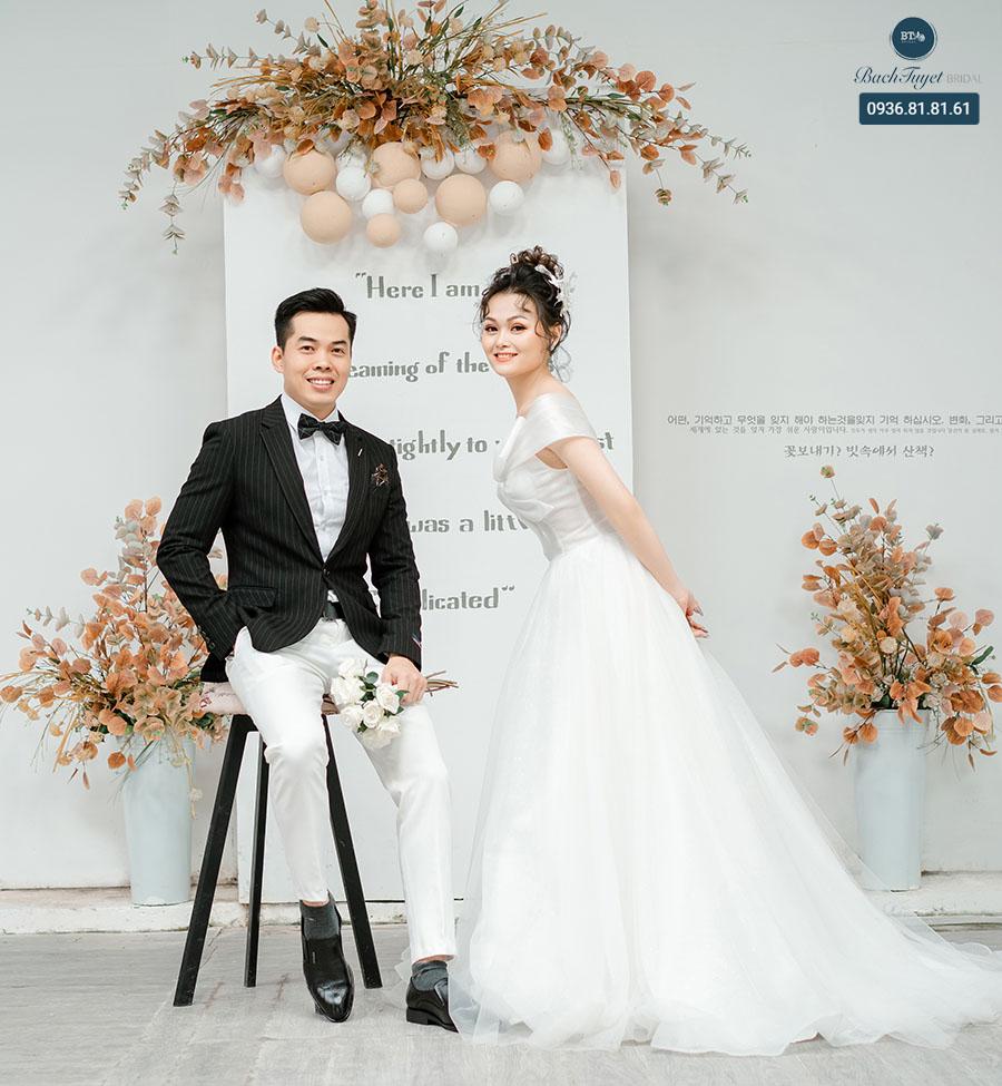 Chụp ảnh cưới kiểu hàn trong studio