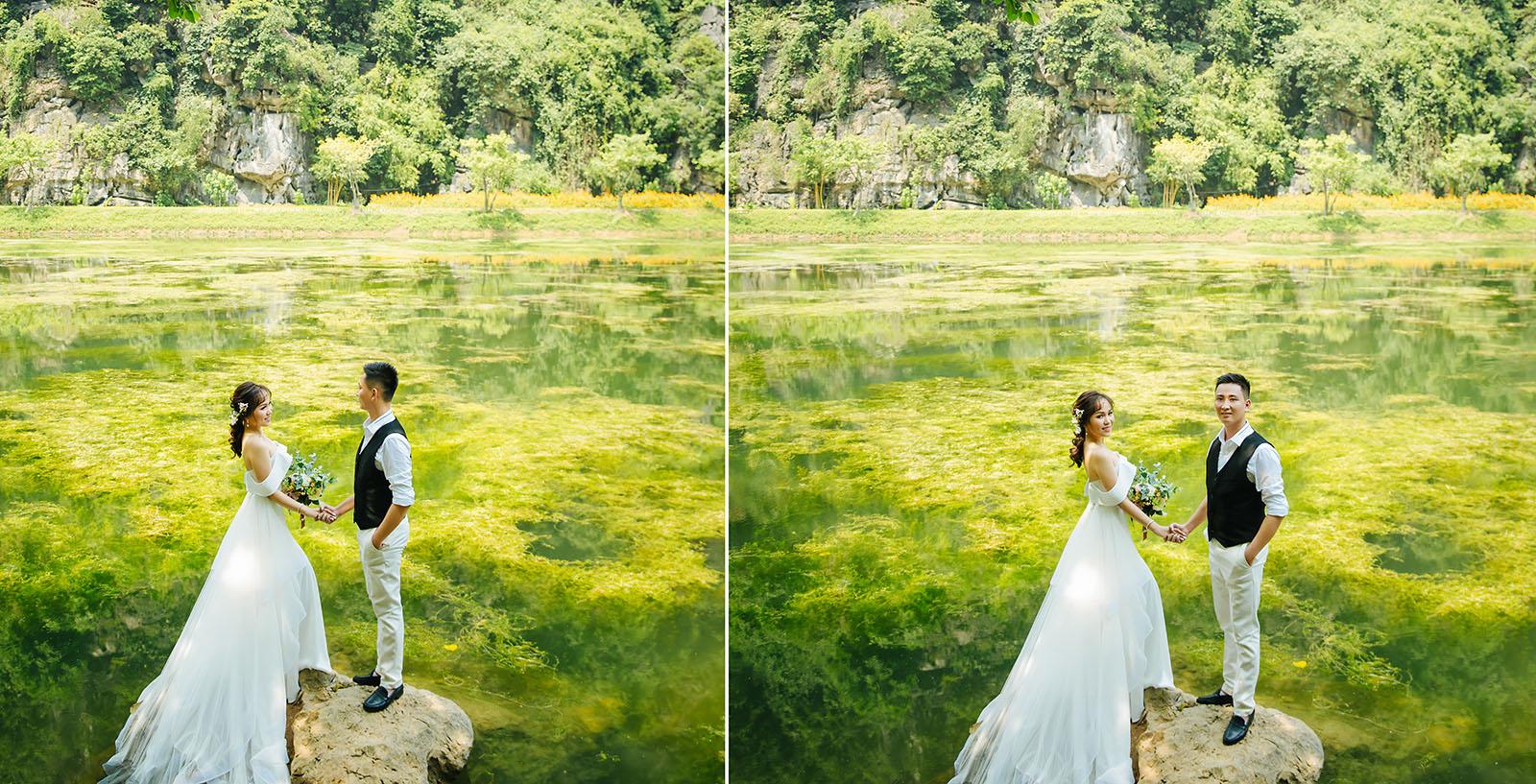 Chụp ảnh cưới ở Tràng An – Ninh Bình đẹp mê hồn tại Bạch Tuyết Bridal