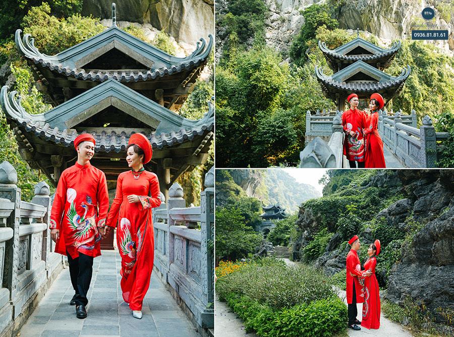 Chụp ảnh cưới ở đền cổ