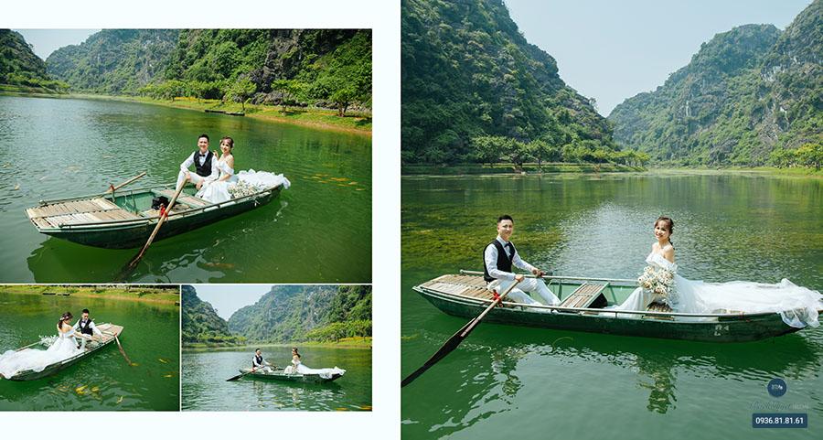 Chụp ảnh cưới trên thuyền