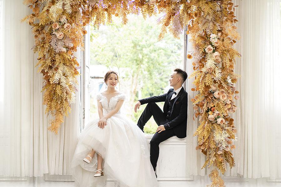 Chụp ảnh cưới kiểu hàn tông màu tươi sáng