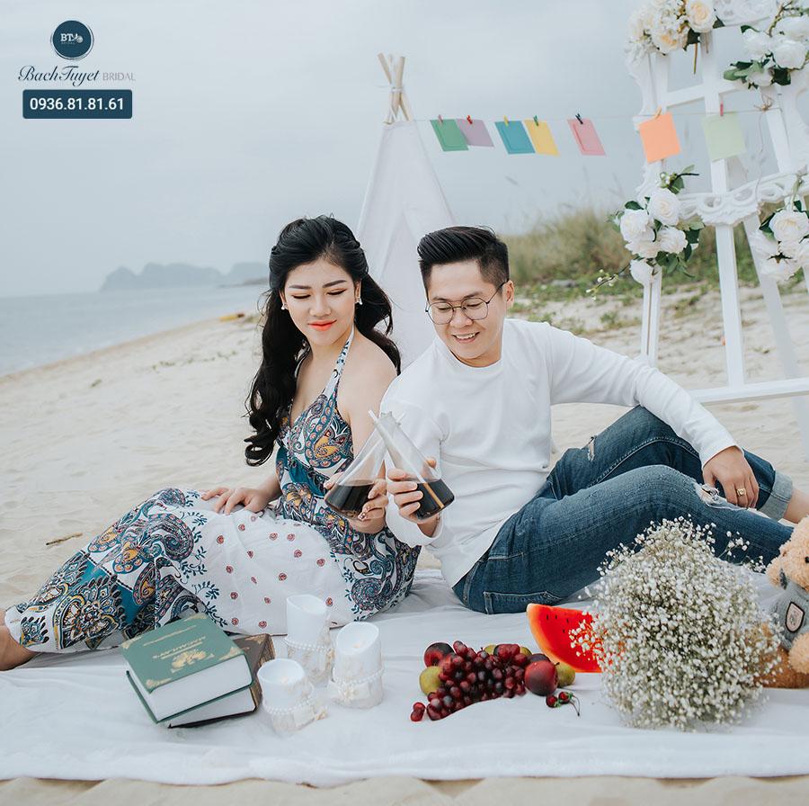 Ý tưởng chụp ảnh cưới ở biển