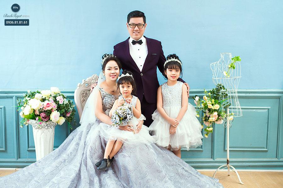 Bối cảnh chụp ảnh cưới gia đình