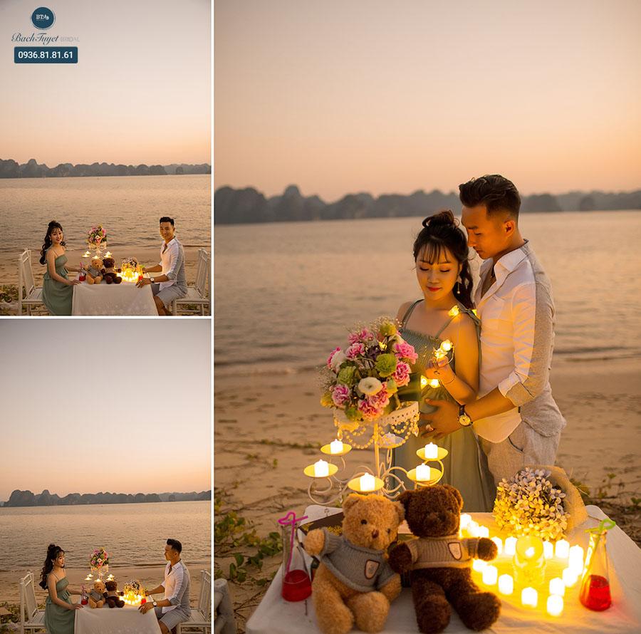 Ảnh cưới lãng mạn ở biển