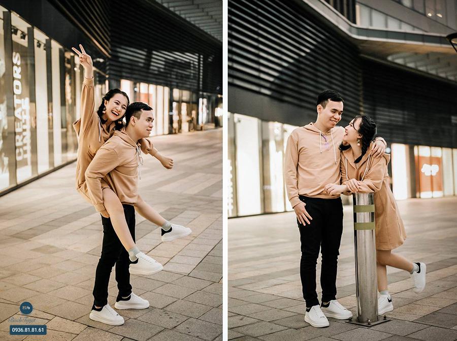 Chụp ảnh cưới hiện đại phong cách đường phố