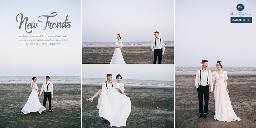 Chụp ảnh cưới ở Đồ Sơn theo kiểu cổ điển