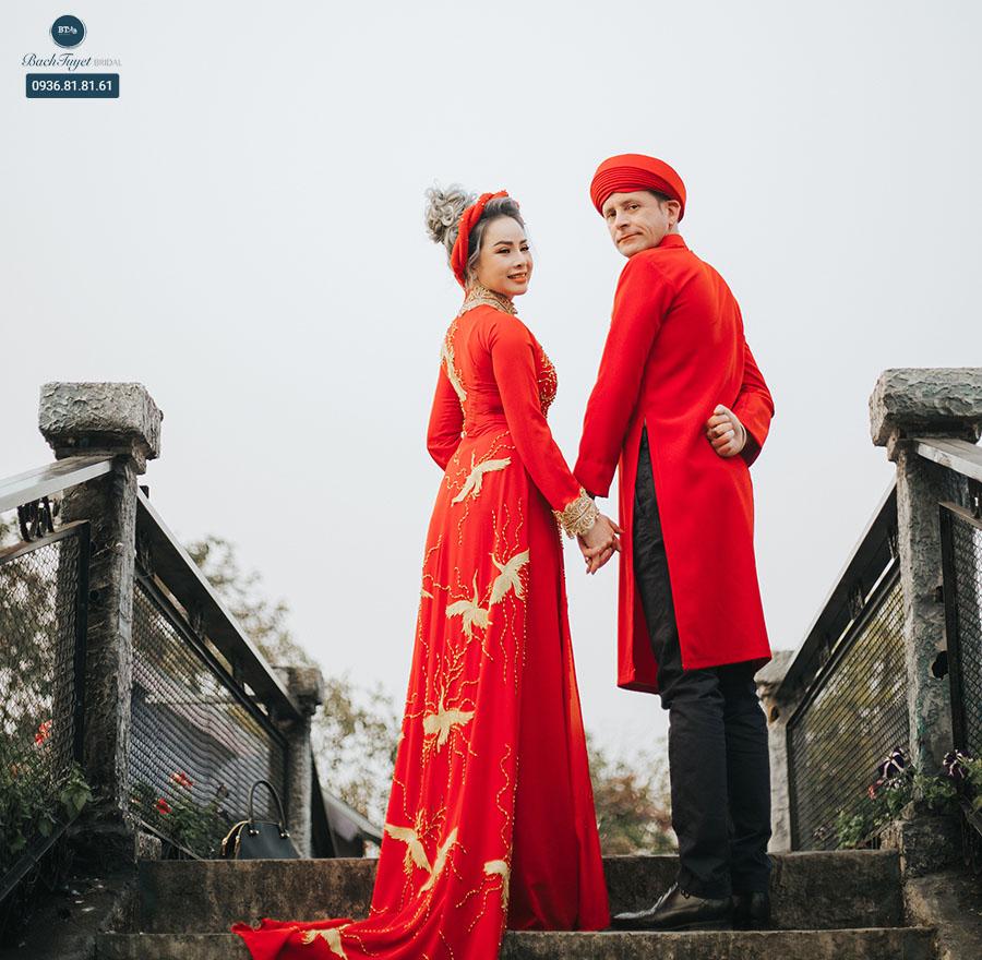 Áo dài cưới truyền thống là gì