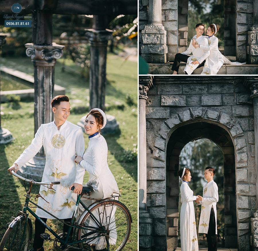 Cách lựa áo dài truyền thống chụp ảnh cưới