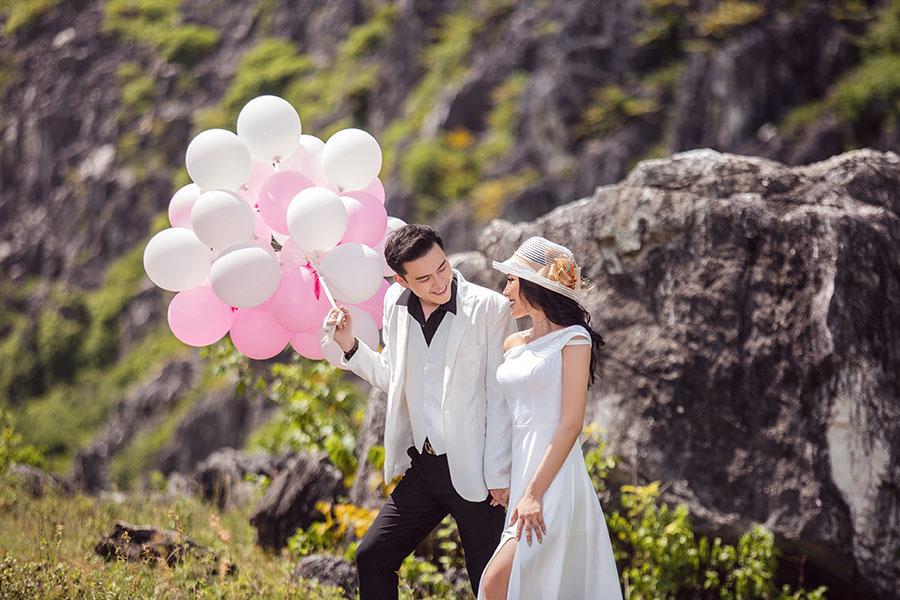 Chọn trang phục cưới hài hòa với cảnh sắc