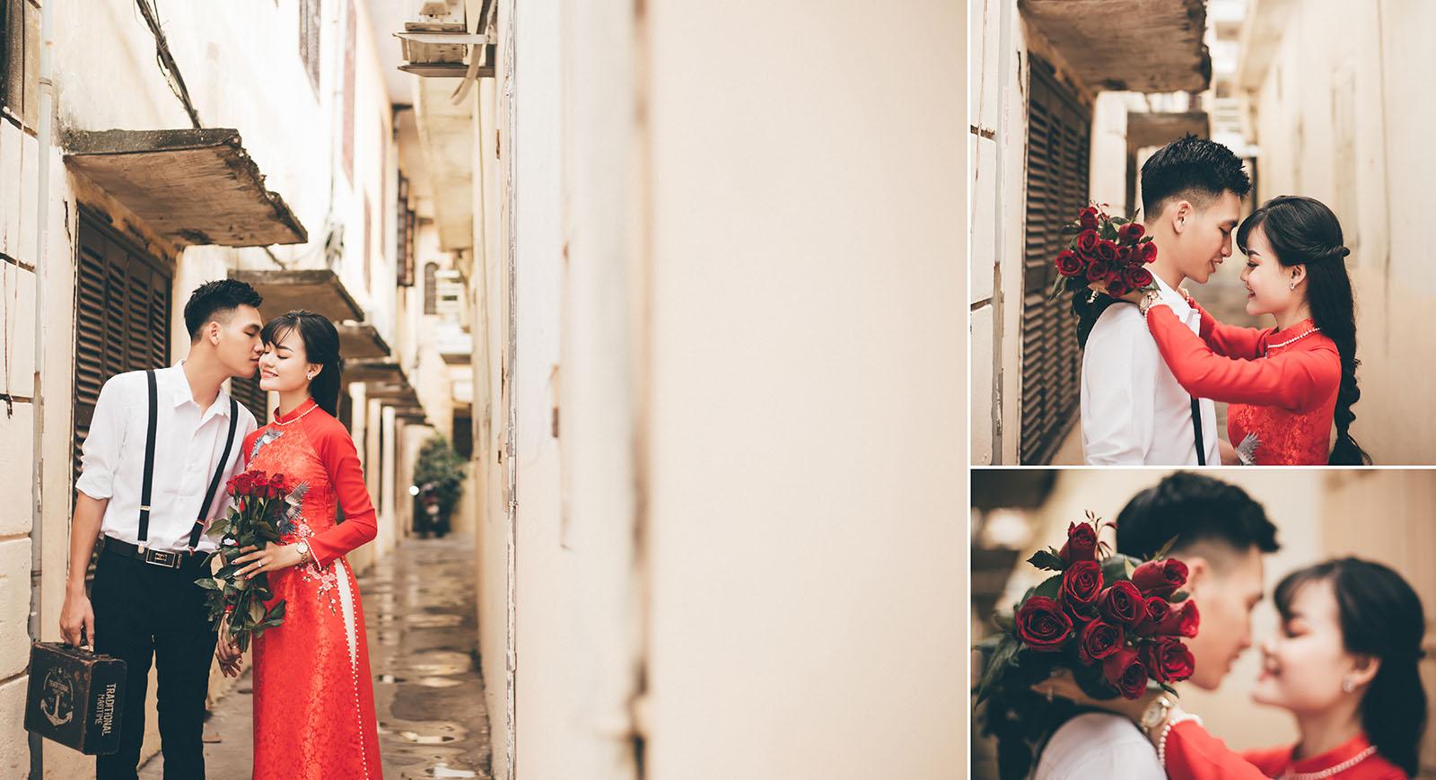 Bí quyết chụp ảnh cưới đẹp với áo dài truyền thống