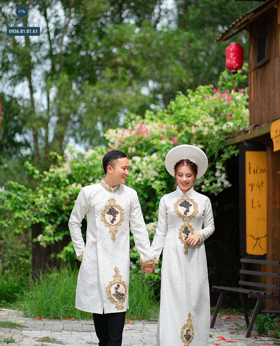 Phụ kiện chụp ảnh cưới với áo dài